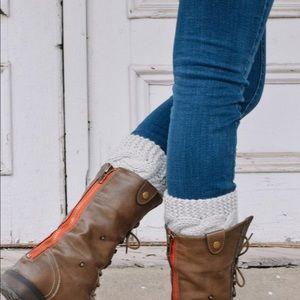 Grey Sweater Boot Cuffs